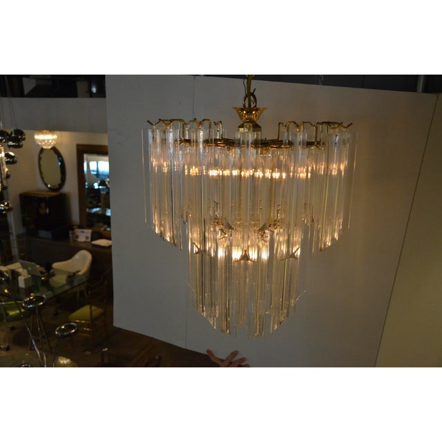 Lucite Waterfall Chandelier - Image 5 of 7