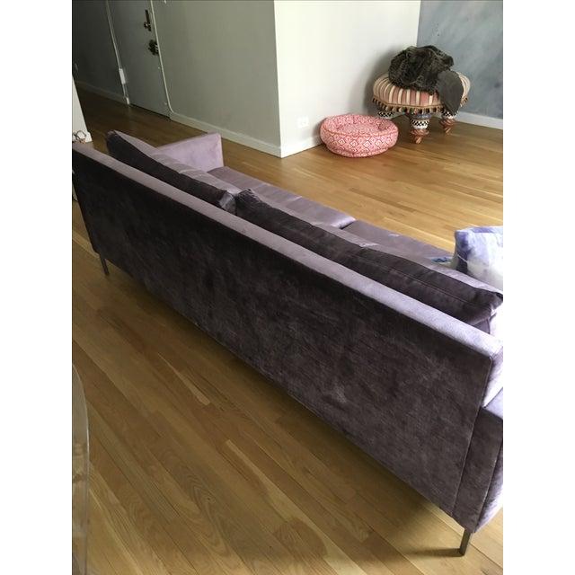 Cobble Hill Amethyst Velvet Sofa - Image 3 of 4