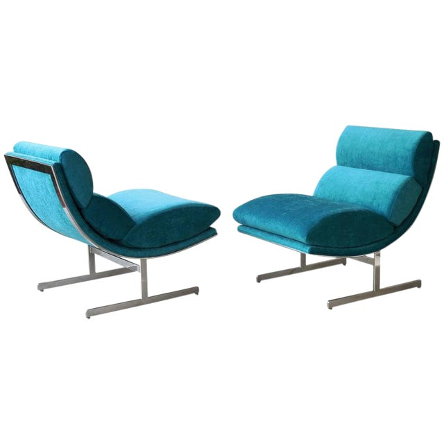 A Pair of Modernist Lounge Chairs by Kipp Stewart - Image 1 of 5