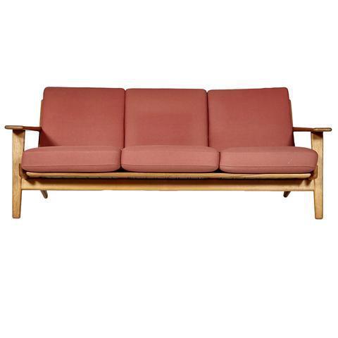 Hans J. Wegner for GETAMA Three Seat Sofa in Oak GE 290 - Image 2 of 10