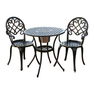 Angeles Outdoor Bistro Furniture Set with Ice Bucket