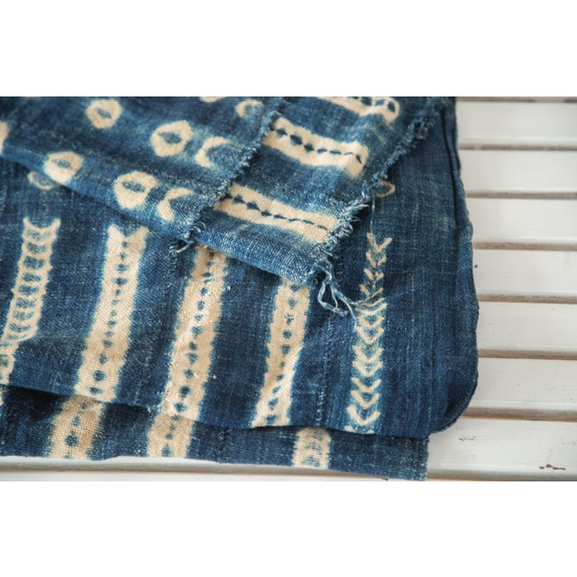 """Vintage African Textile Throw - 3'4"""" X 5' - Image 3 of 6"""