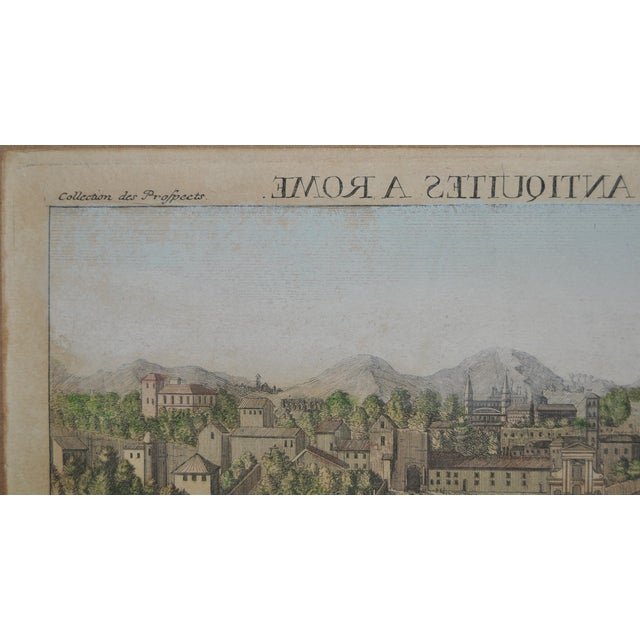 """Antique """"View of Rome"""" Engraving 19th Century - Image 4 of 11"""