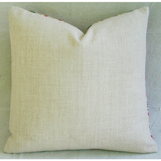 Parrot & Pomegranate Linen Feather/Down Pillow - Image 3 of 3