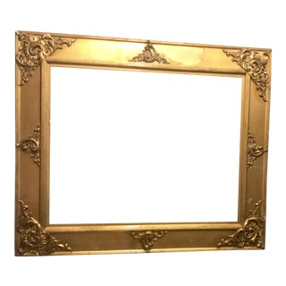 Carved Wood & Gesso Antique Gilt French Frame