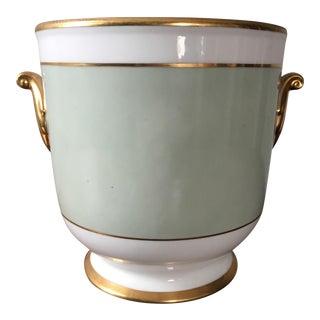 Vintage Green Limoges Cachepot