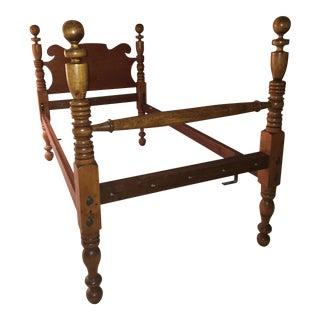 Antique Cherry Twin Bedframes - A Pair