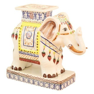 Hand Painted Elephant Plant Stand