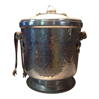 Vintage Hammered Aluminum Ice Bucket