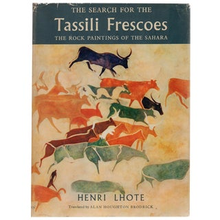 """The Search for the Tassili Frescoes"" Book By Henri Lhote"
