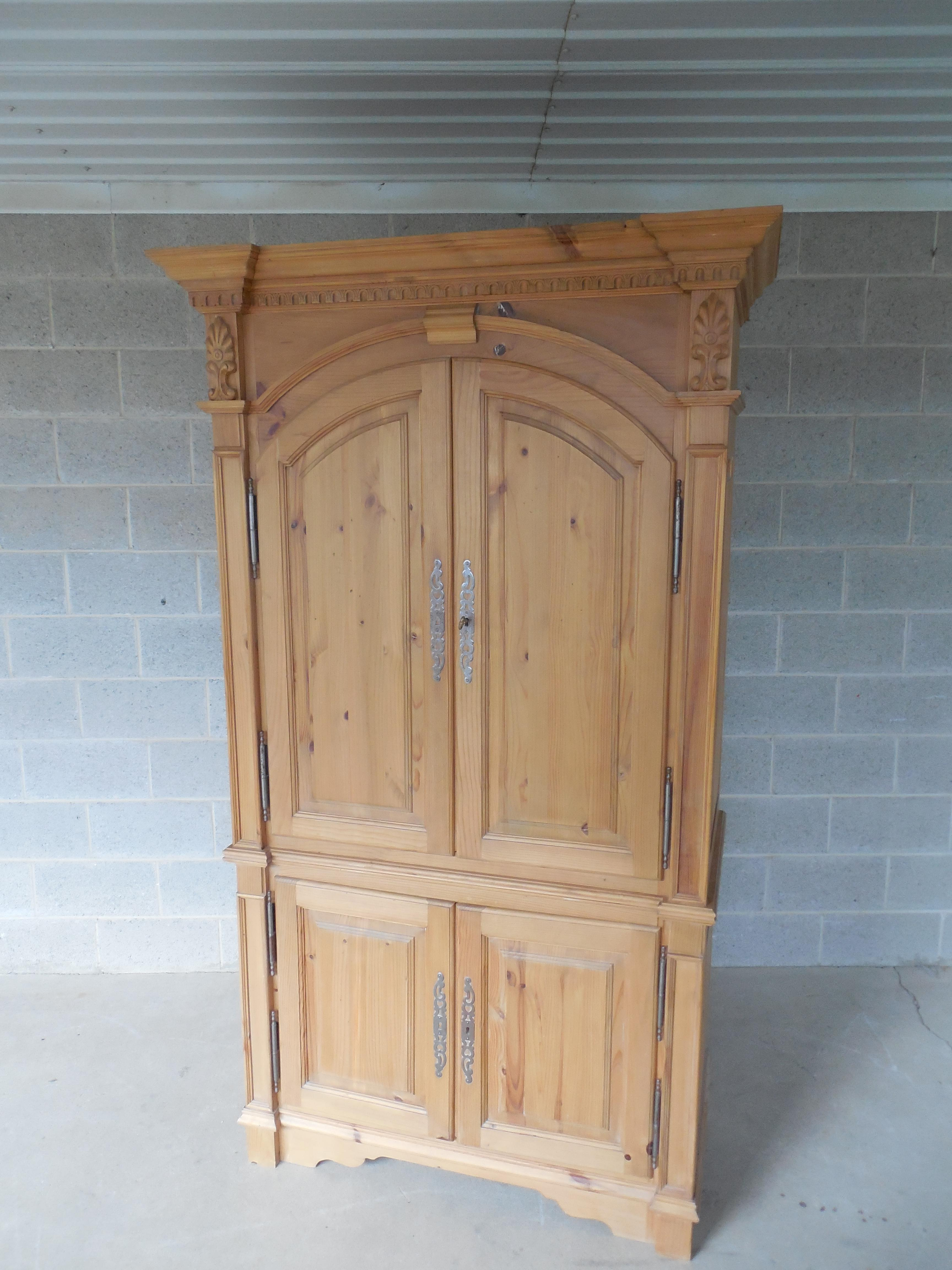 Charming Image Of French Country Style Natural Distressed Bar Cabinet
