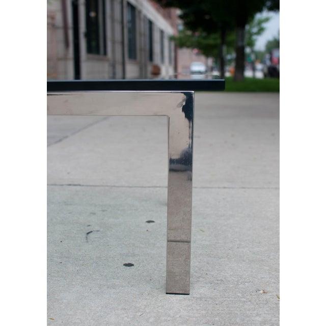 Milo Baughman Chrome & Glass Coffee Table - Image 4 of 6