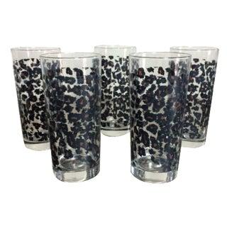 Nicole Miller Leopard Highball Glasses - Set of 5