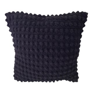 Black Knit Square Pillow