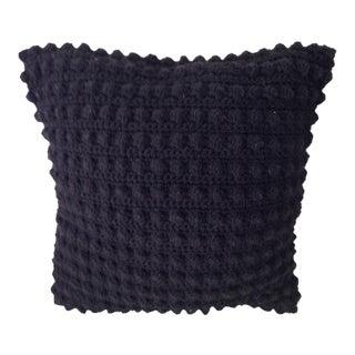 Black Knit Square Pillow