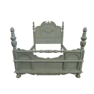 Antique Shabby Chic Gustavian Style Queen/Full Painted Bed