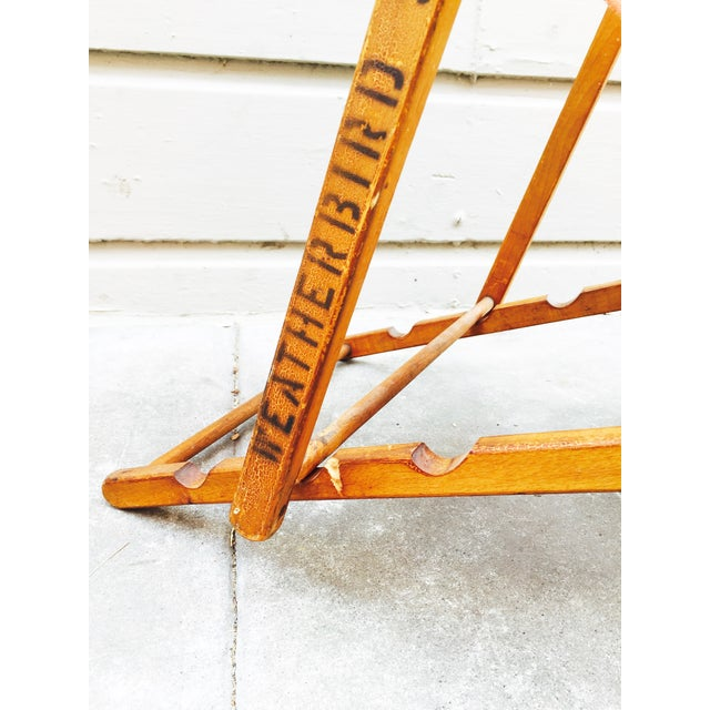Antique Folding Beach Chair - Image 4 of 6