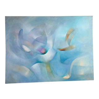 White Light or Blue Light Abstract Painting