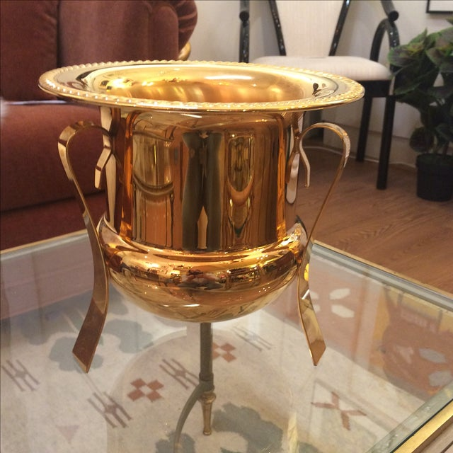 14k Gold Electro Plated Champagne Bucket - Image 3 of 7