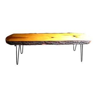 60's Slab Wood Coffee Table