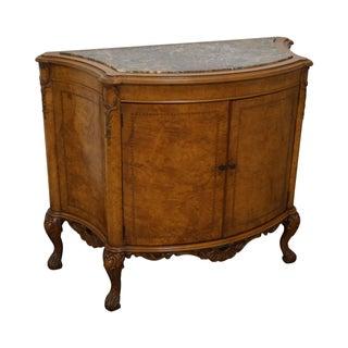 Vintage Louis XV Burl Wood Marble Top Console