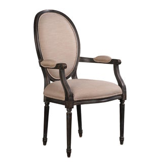 Sarreid LTD Louis XVI Style Black Armchair