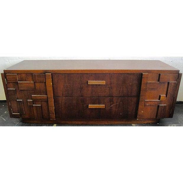 Mid Century Brutalist Credenza By Lane Furniture Chairish