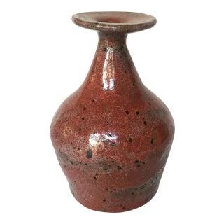Signed Primitive Pottery Vase