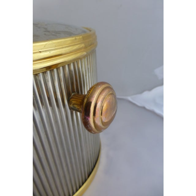 Vintage Brass & Chrome Ice Bucket - Image 4 of 7