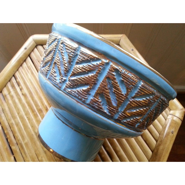 Vintage Italian Blue & Gold Footed Bowl - Image 4 of 8