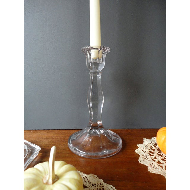 Image of 1940s Candle Holders, Holiday Table Setting - 4