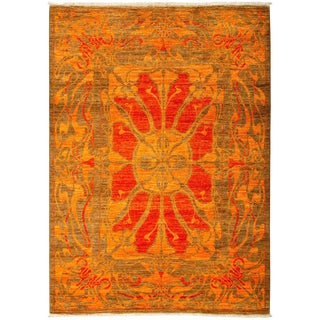 """Shalimar, Hand Knotted Area Rug - 5' 1"""" x 7' 4"""""""