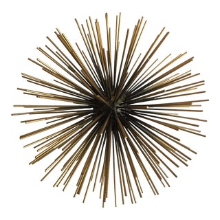 Starburst Urchin Brass Sculptural Object