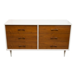 Lacquered Two-Tone Mid-Century Modern Low Dresser