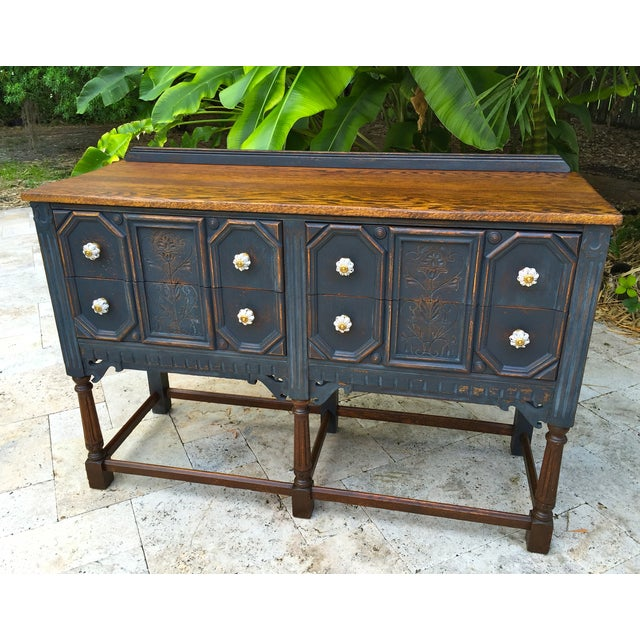 Vintage Jacobean Style Sideboard - Image 2 of 9