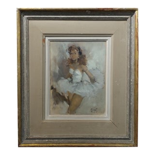 Pierre Grisot - Beautiful Ballerina - Original Oil painting - French Impressionist