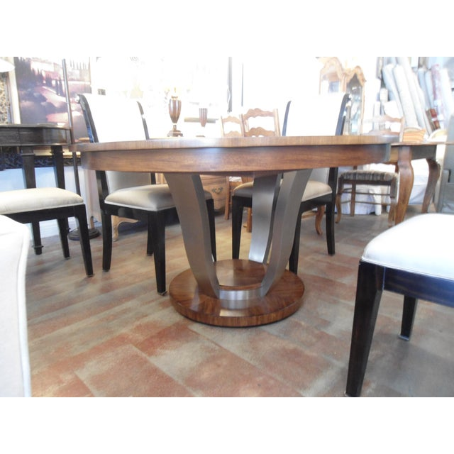 Drexel heritage round dining table w 18 leaf chairish for Round dining table w leaf