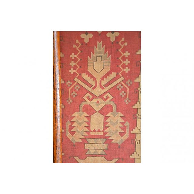 Antique Hand-Dyed Linen Tapestry Room Screen - Image 3 of 7