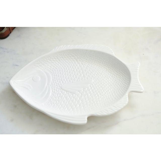 Vintage whittier pottery fish serving platter tray chairish for Fish serving platter