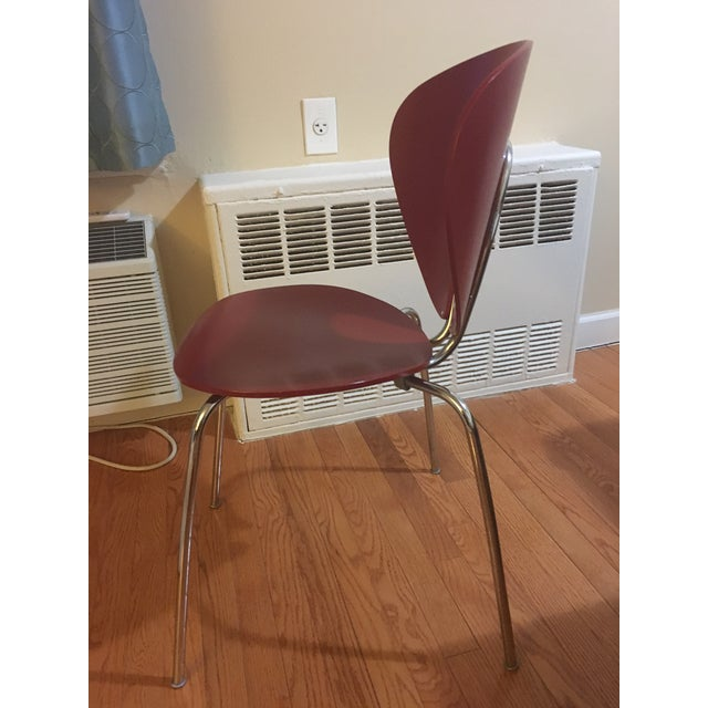 Image of Design Within Reach Red Globus Chairs - Set of 4