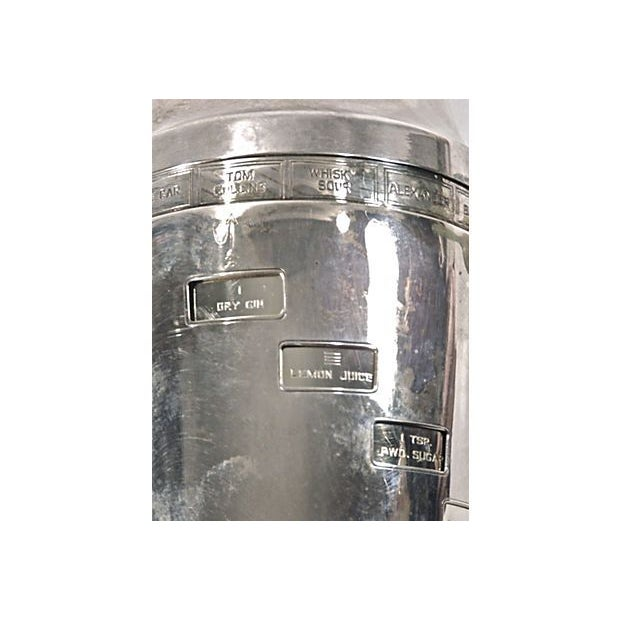 Image of Art Deco Silver Cocktail Recipe Shaker