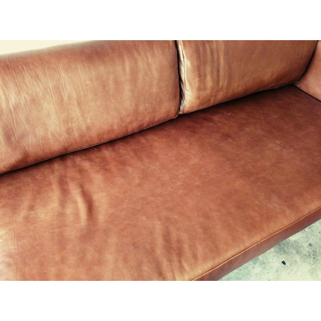 Gambrell Renard Leather Sofa Chaise Sectional - Image 4 of 5