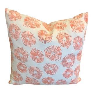 Lulu Dk for Schumacher Accent Pillow in Firecrackers Coral