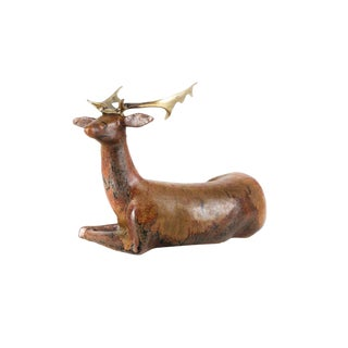Loet Vanderveen Ceramic & Bronze Deer Sculpture