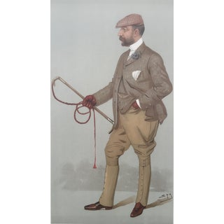 1896 Vanity Fair Print, Turf Devotee, Papworth