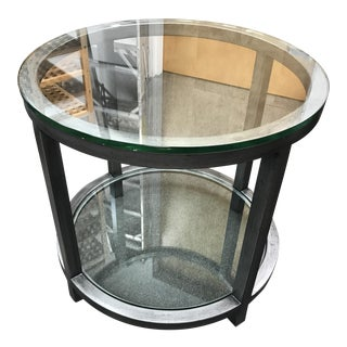 Circular Glass & Metal Frame Side Table