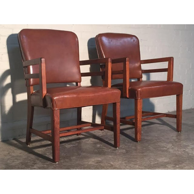 Mid-Century Office Chairs W/Nailhead Back - A Pair - Image 3 of 10
