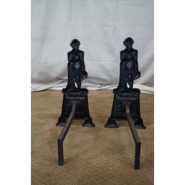 George Washington Andirons- A Pair - Image 4 of 10