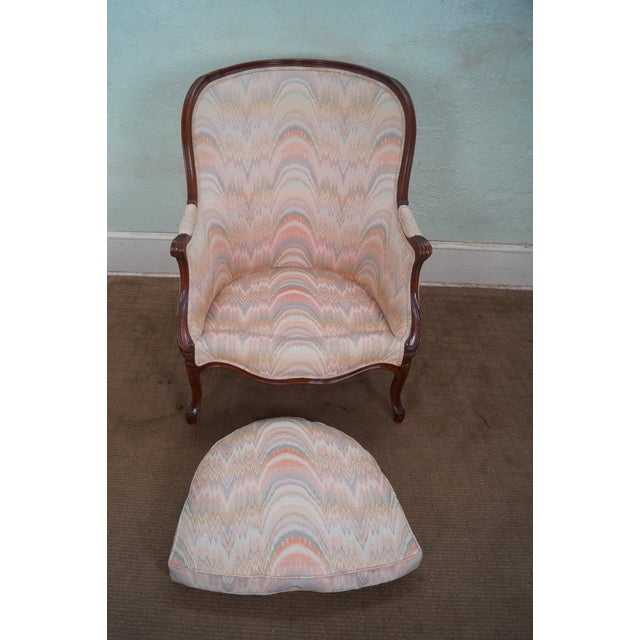 Large 1920s French Louis XV Style Bergere Chair - Image 5 of 10