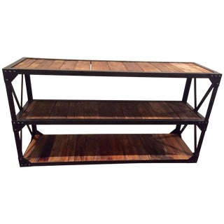 Reclaimed Wood & Iron Console